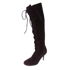 Michael Kors Brown Suede Lace-Up Boots. Sz 7.5
